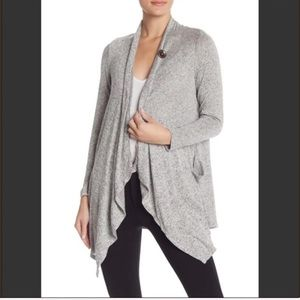 Bobeau French Terry Slub Cardigan Gray S